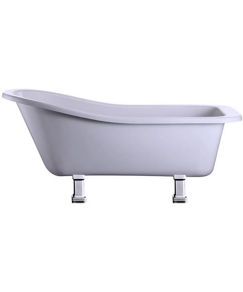 Burlington Harewood Slipper Bath With Chrome Period Legs