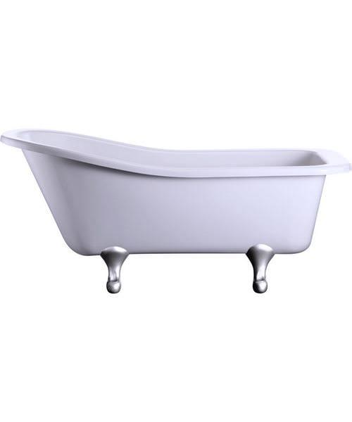 Burlington Harewood Slipper Bath With Chrome Classical Legs
