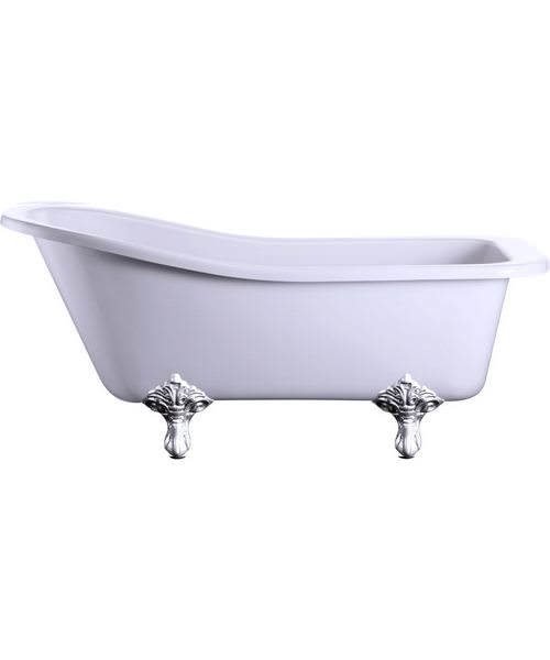Burlington Harewood Slipper Bath With Chrome Traditional Legs
