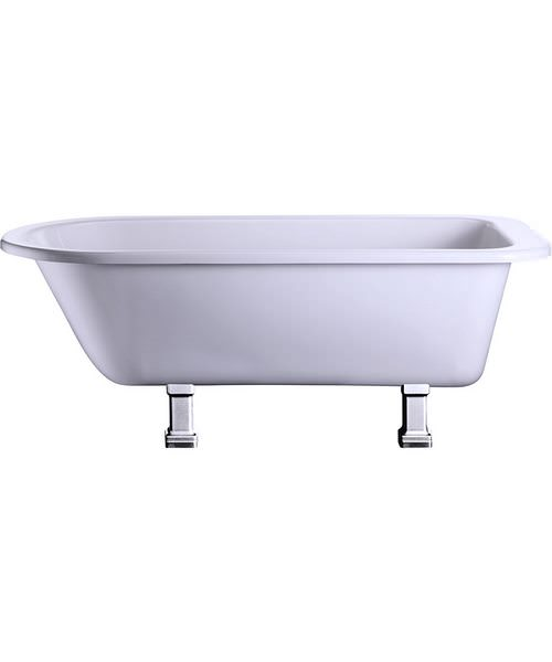 Burlington Blenheim Single Ended Bath With Chrome Period Legs