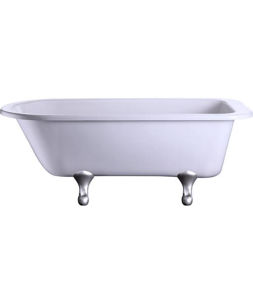 Burlington Blenheim Single Ended Bath With Chrome Classical Legs