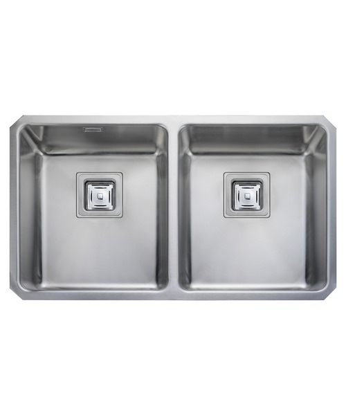 Rangemaster Atlantic Quad 2 Bowl Stainless Steel Undermount Kitchen Sink