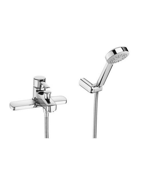 Roca Targa Deck Mounted Bath-Shower Mixer Tap With Kit
