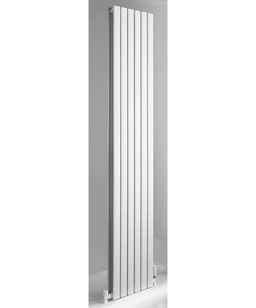 DQ Heating Axis 408 x 1800mm Double Flat Panel Vertical Radiator White