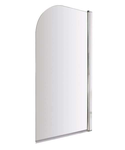 Beo Straight 790 x 1435mm Clear Glass Bath Screen