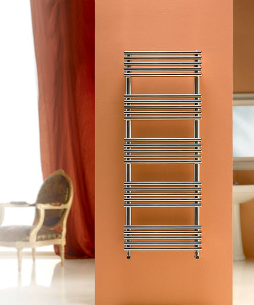 DQ Heating Sandy Polished Stainless Steel 600 x 1295mm Heated Towel Rail