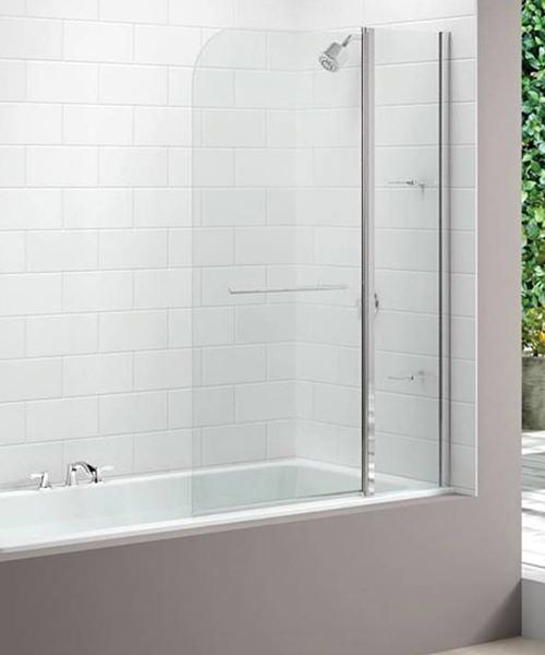 Merlyn 2 Panel Curved Bath Screen 1150 X 1500mm