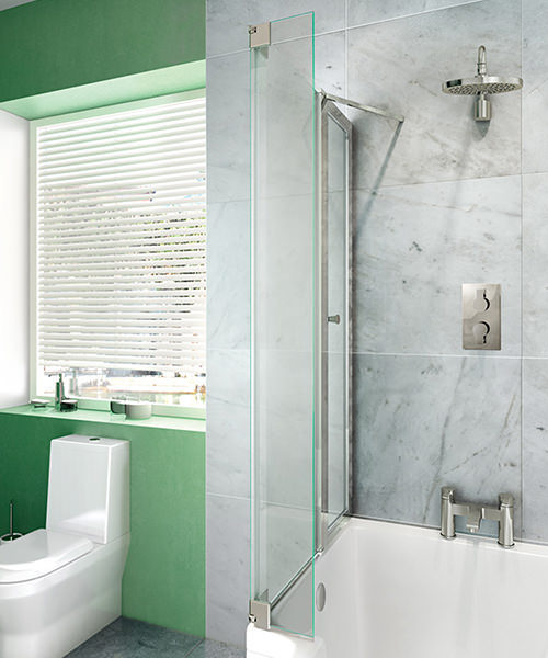 Cleargreen Ecosquare 820 x 1450mm Bathscreen Left Handed