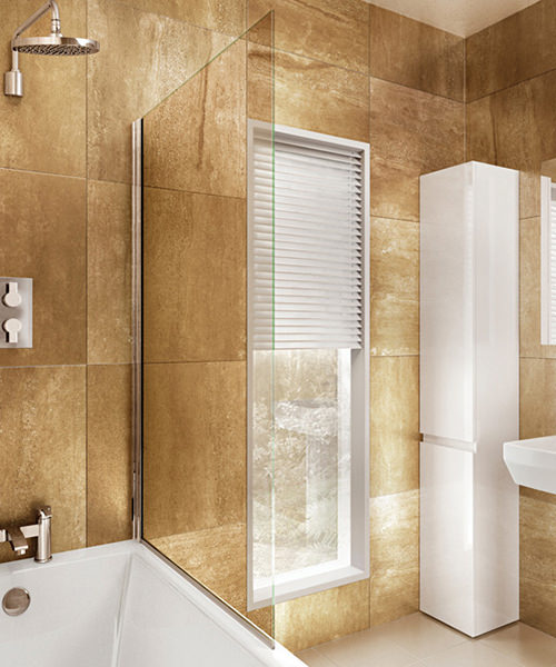 Cleargreen 850 x 1450mm Pivot Bathscreen - BS1