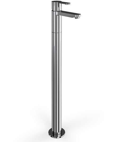 Cleargreen Crystal Single Lever Bath Filler With Floor Standing Shroud