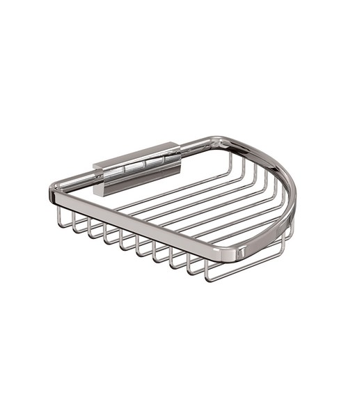 Cleargreen Large Corner Wire Basket Chrome 19cm x 19cm x 3cm