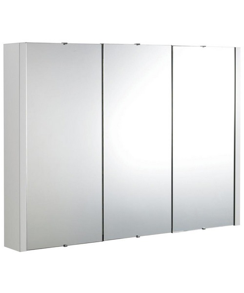 Nuie Premier Design 90cm 3 Door Mirror Unit
