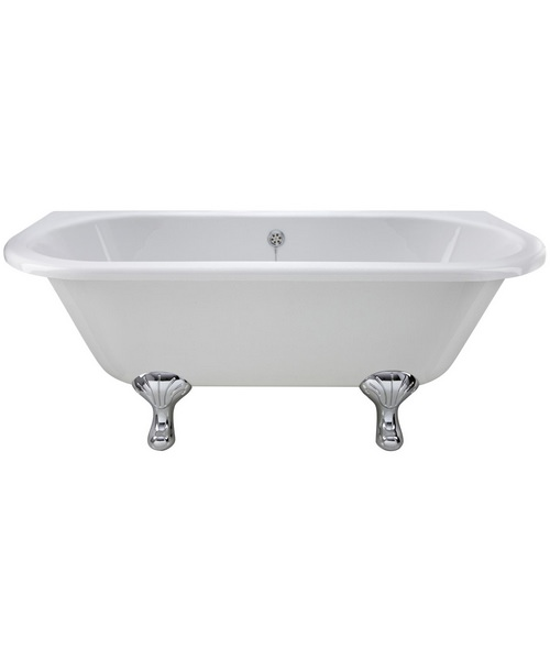 Lauren 1700 x 745mm Back-To-Wall Freestanding Acrylic Bath With Corbel Legs