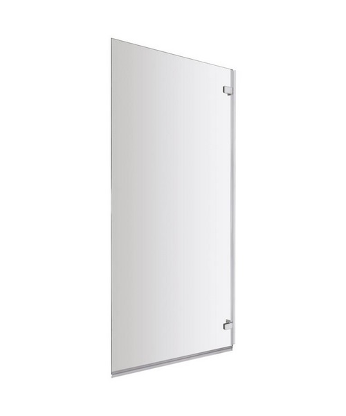 Lauren Ella 780 x 1400mm Square Single Hinged Panel Bath Screen
