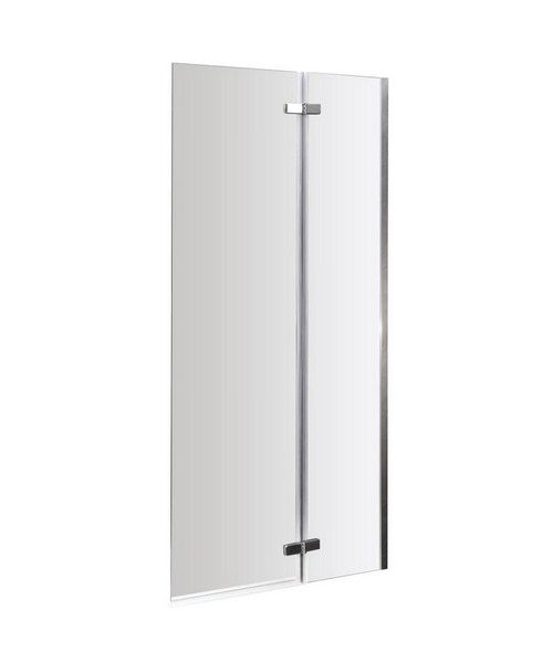 Lauren Ella 745 x 1400mm Straight Hinged Bath Screen