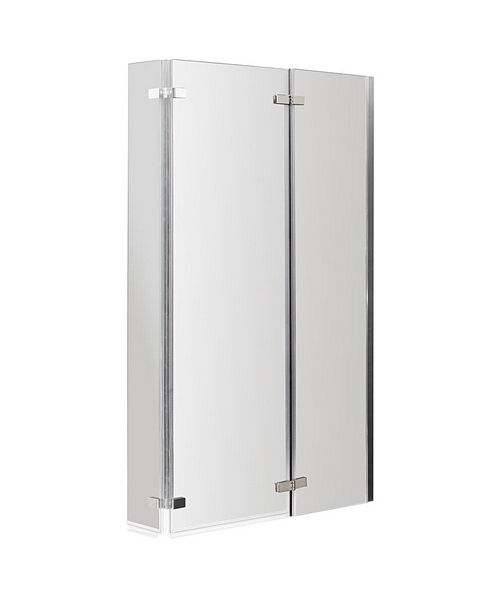 Lauren Ella 800-810 x 1400mm Square Hinged Bath Screen