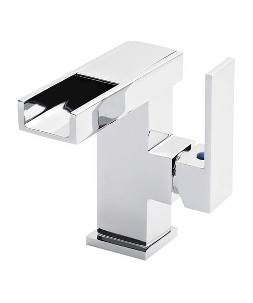 Hudson Reed Blade LED Side Action Cloakroom Mono Basin Mixer Tap With Waste