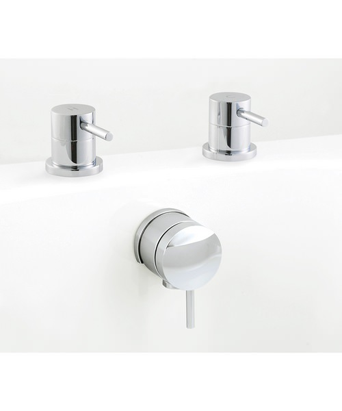 Beo Mini Bath Freeflow Filler And Side Valve