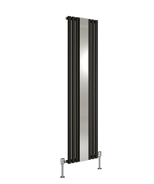 quality cabinets dq heating cove mirror black designer radiator 382 x 1800mm 25026