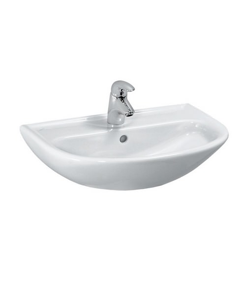 laufen pro b compact washbasin 550 x 400mm with 1 tap hole. Black Bedroom Furniture Sets. Home Design Ideas
