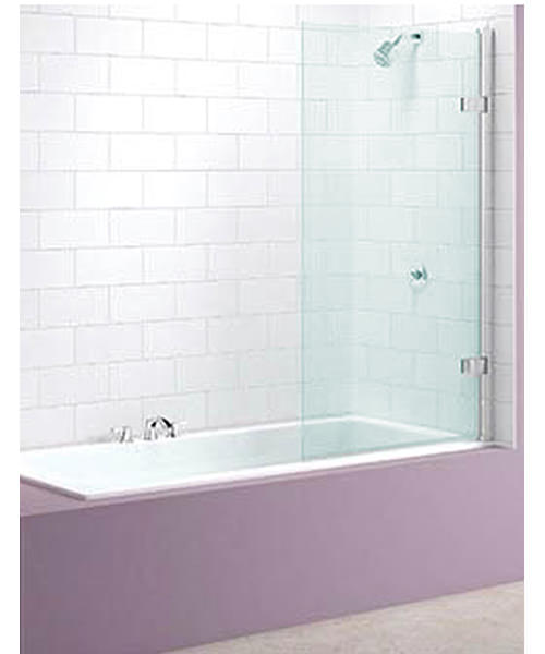 Merlyn Hinged Square Bath Screen 850 x 1500mm