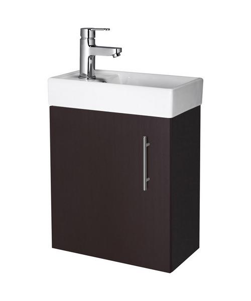 Lauren Minimalist 400mm Ebony Wall Hung Cabinet And Basin