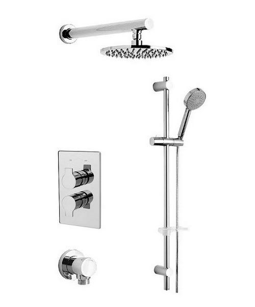 Tre Mercati Ora Thermostatic Shower Valve With Slide Rail And Shower Head