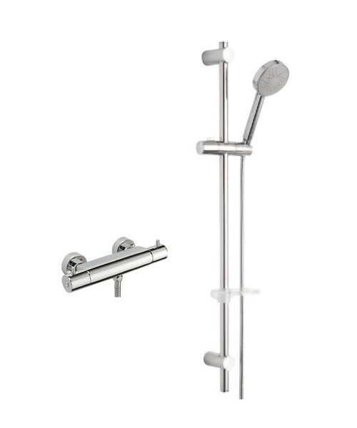 Tre Mercati Bella Exposed Thermostatic Shower Valve With Slide Rail Kit
