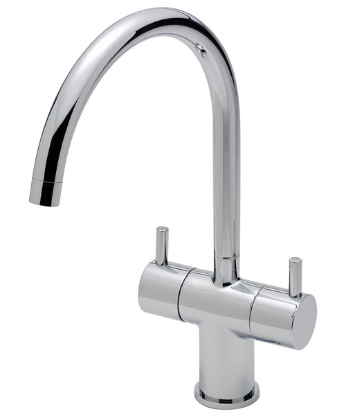 Sagittarius Piazza Twin Lever Kitchen Sink Mixer Tap