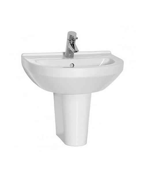 VitrA S50 Cloakroom 55cm Washbasin With Half Pedestal Large