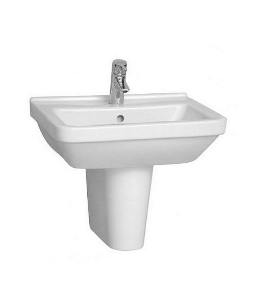 VitrA S50 Square 55cm Washbasin With Half Pedestal