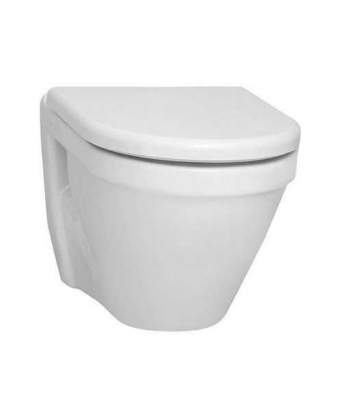 VitrA S50 48cm Wall Hung WC Pan With Toilet Seat