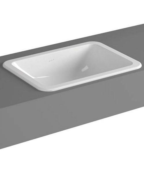 VitrA S20 Commercial 50cm Countertop Basin Square