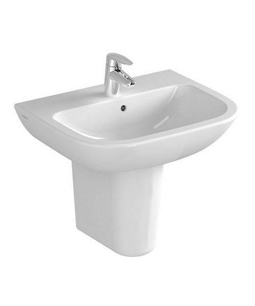 VitrA S20 1TH 55cm Washbasin With Half Pedestal