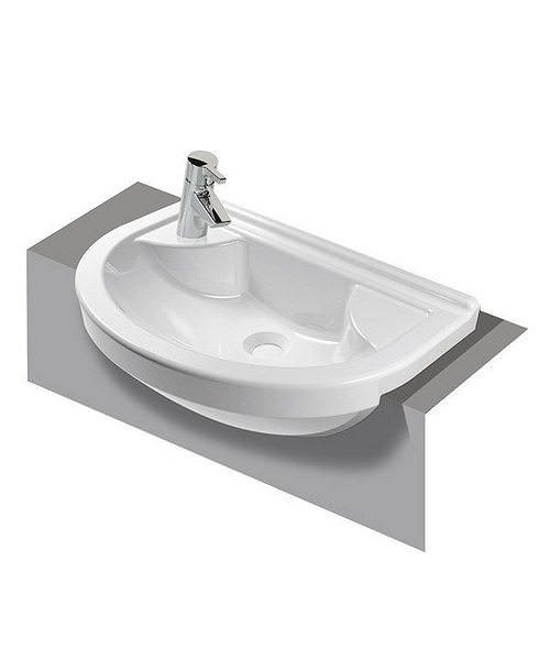 VitrA S50 Round Compact Semi-Recessed Basin 55cm