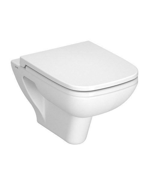 VitrA S20 Wall Hung 520mm WC Pan With Toilet Seat