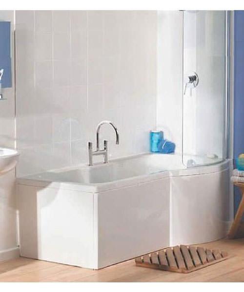 VitrA Optima Shower Bath Front Panel 1700mm