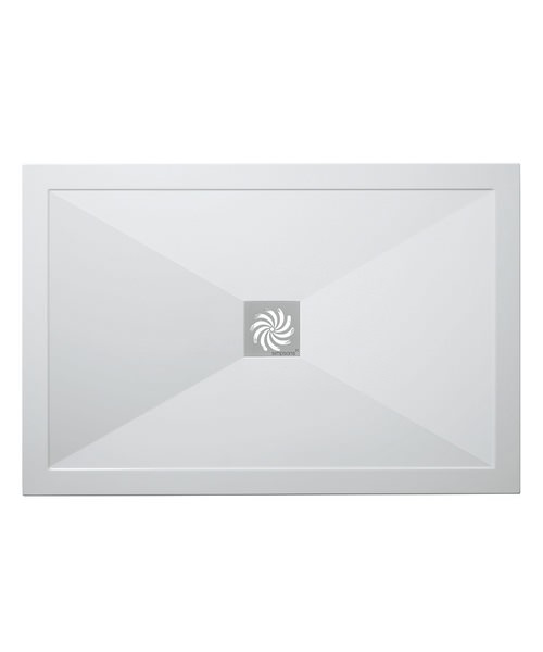 Simpsons Rectangular 800 x 1600mm Low Profile Shower Tray And Waste