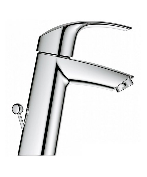 Grohe Eurosmart Medium Basin Mixer Tap With Pop Up Waste