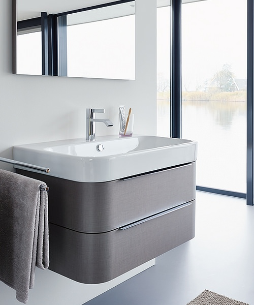 Duravit Happy D2 625mm White Wall Mounted Vanity Unit With Basin