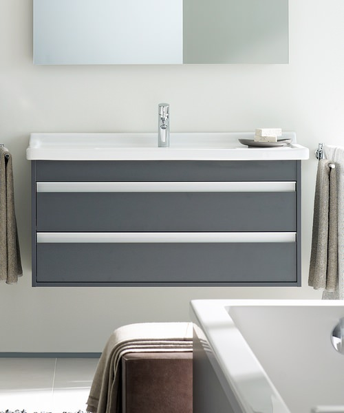Duravit ketho 1000mm double drawer vanity unit with 1050mm for 1000mm kitchen drawer unit