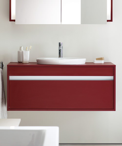 Duravit Ketho 550mm Depth Wall Mounted 1 Drawer Unit For Undercounter Basin F-Bonded