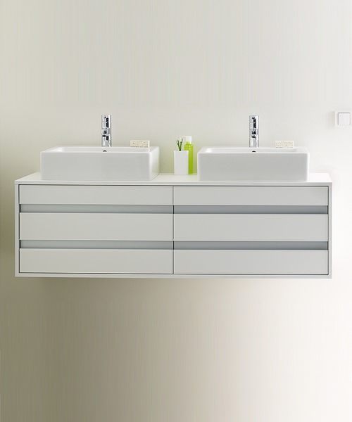 Duravit Ketho 1400 x 550mm Wall Mounted 4 Drawer Unit For Above Counter Basin