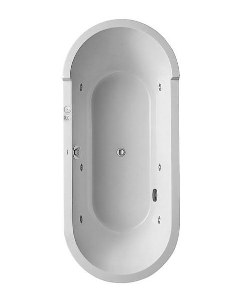 Duravit Starck 1800mm Double Ended Freestanding Bath With Jet System