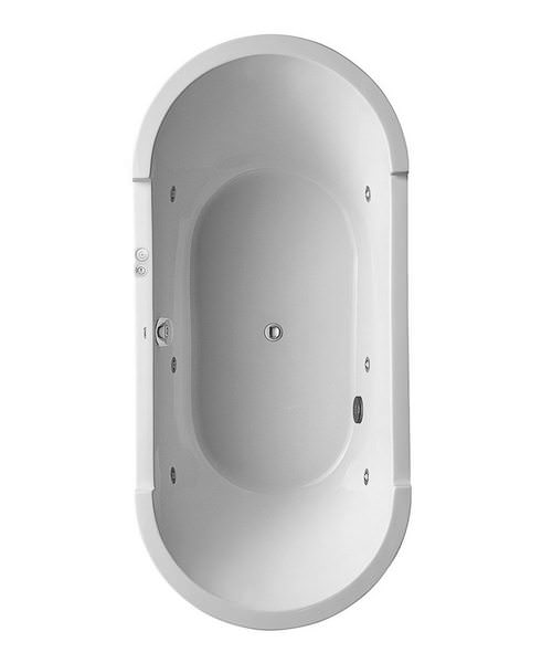 Duravit Starck Oval Freestanding Bath With Panel And Support Frame