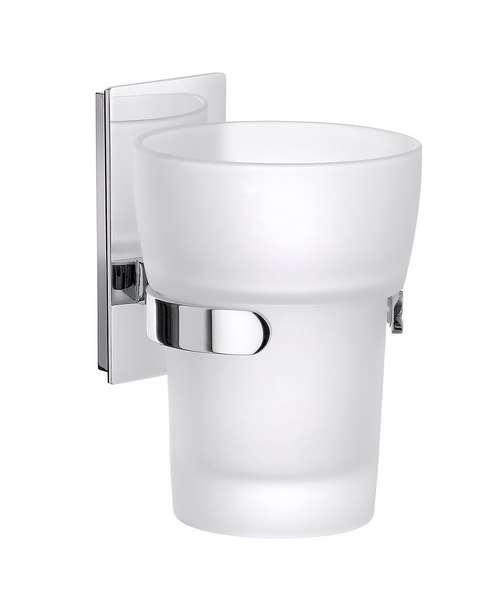 Smedbo Pool Polished Chrome Frosted Glass Tumbler