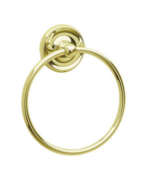 Smedbo Villa Polished Brass Towel Ring