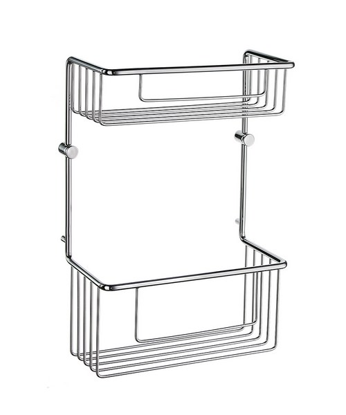 Smedbo Sideline Straight 2 Level Soap Basket - Polished Chrome