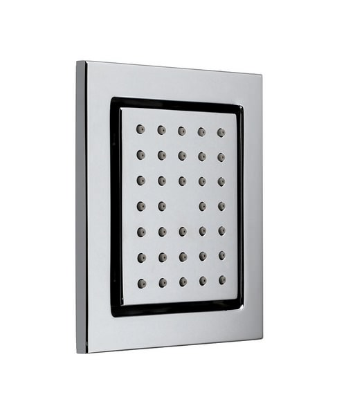 Vado Chrome Wall Mounted Tilting Square Bodytile