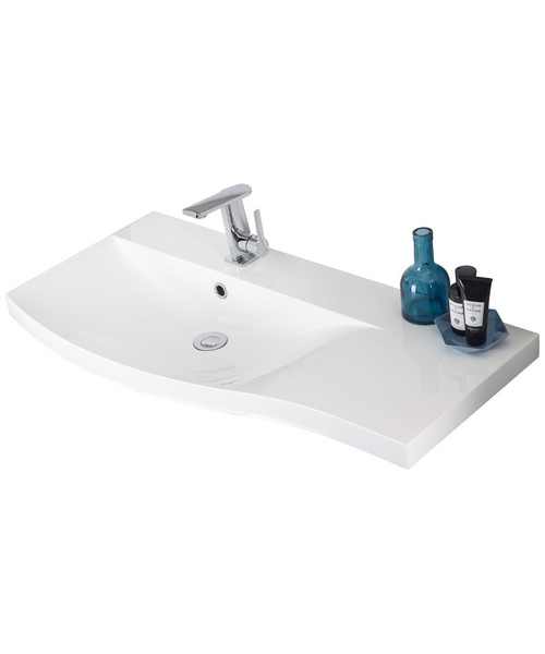 Roper Rhodes Serif 900mm Isocast Gelcoat Left Hand Basin For Furniture